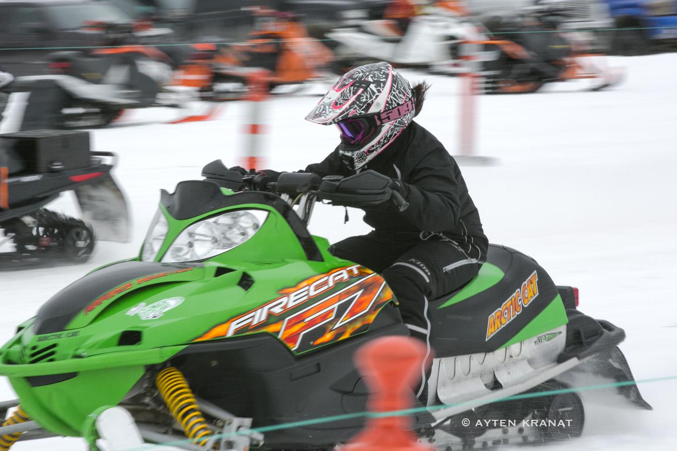 Snowmobile Ice Drag Racing